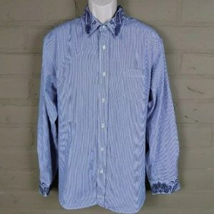 Lucky Brand Mens Size XXL Button Down Long Sleeve